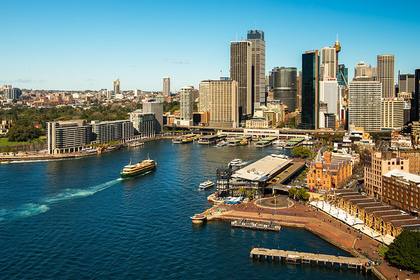 This is a bird's eye view of Circular Quay.