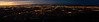 Twilight Over Phoenix<br /> <br /> A stitch of 4 shots taken from South Mountain